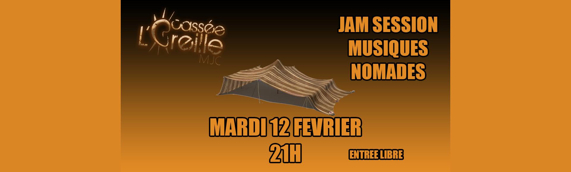 Jam Session – 12 février 2019 – Jam Nomade